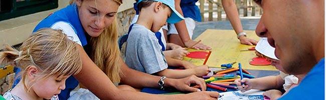 Children miniclub resort supervision