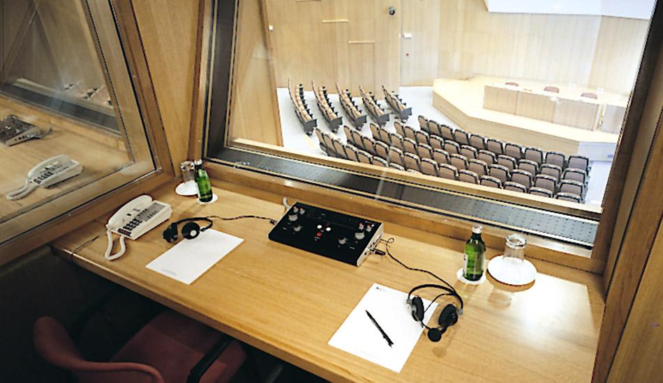 Translation booth in Auditorium Europe