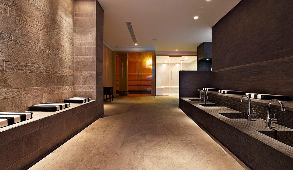 Spa with sauna and steam bath